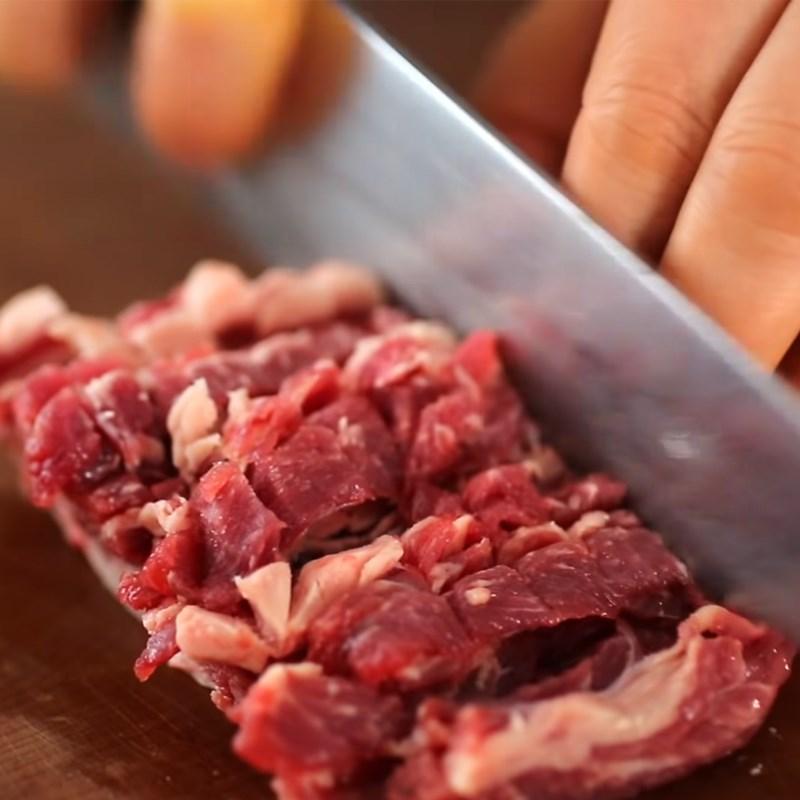 Bước 1 Sơ chế và lóc thịt sườn bò Sườn bò băm nướng (Tteokgalbi) Hàn Quốc