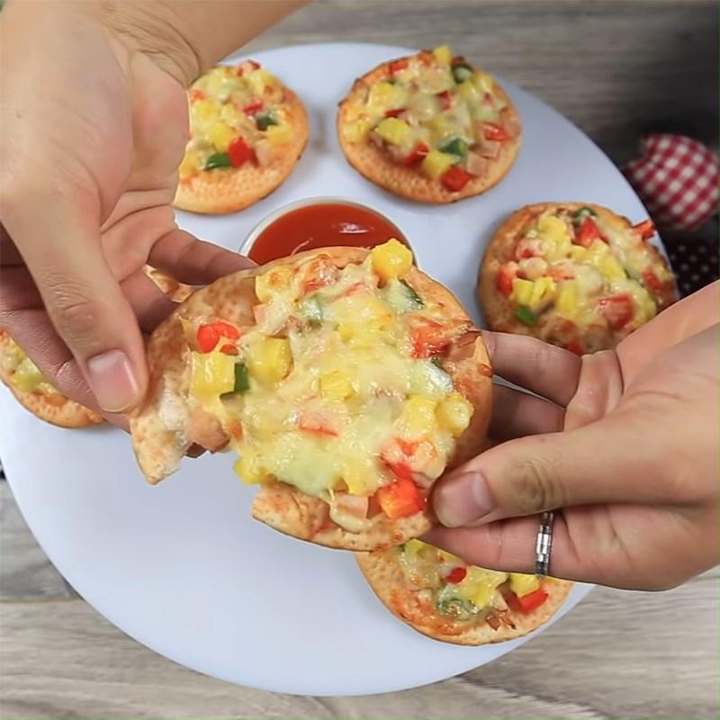 Bước 6 Thành phẩm Pizza Hawaii mini