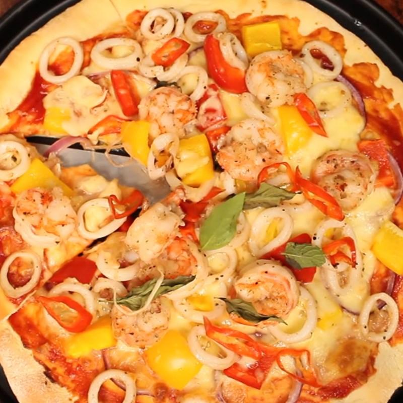 Bước 6 Thành phẩm Pizza hải sản phô mai