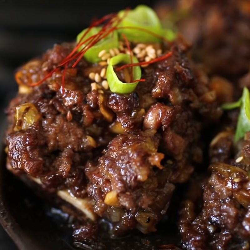 Bước 5 Thành phẩm Sườn bò băm nướng (Tteokgalbi) Hàn Quốc