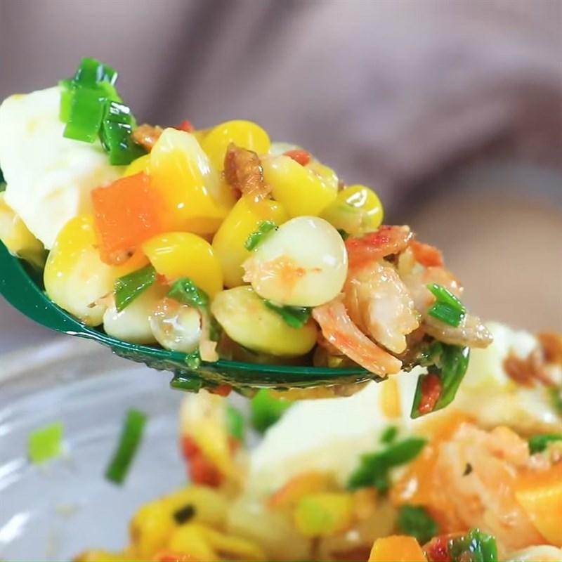 Bước 5 Thành phẩm Bắp nướng mỡ hành sốt phô mai trứng muối