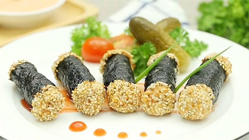 Chả giò hải sản cuộn rong biển