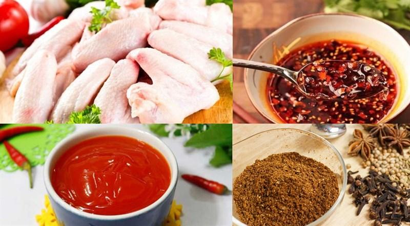 Nguyên liệu món ăn 3 cách làm cánh gà nướng