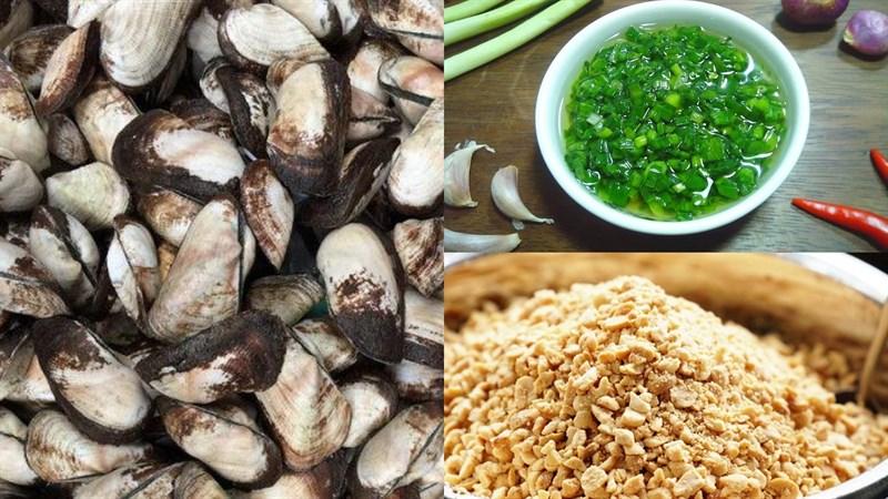 Nguyên liệu món ăn 3 cách làm sò dẹo nướng