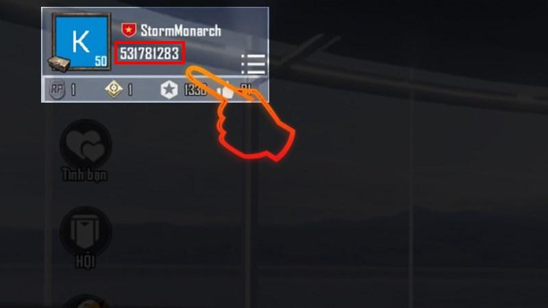Bạn có thể xem ID bằng cách vào game, nhấn vào Avatar bên góc trái màn hình