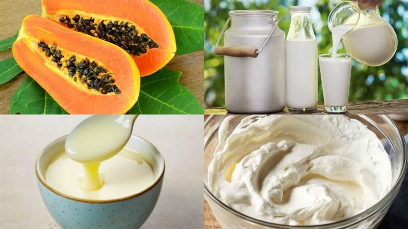 Cách làm kem đu đủ thơm ngon cực kỳ bổ dưỡng 1