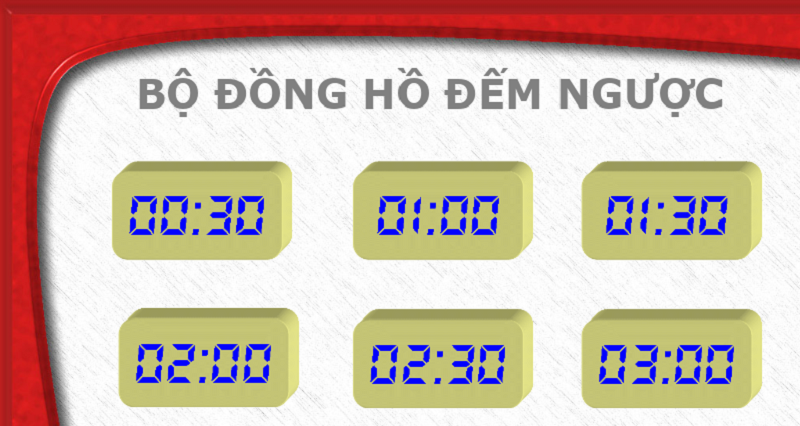 Tải về mẫu đồng hồ điện tử đếm ngược