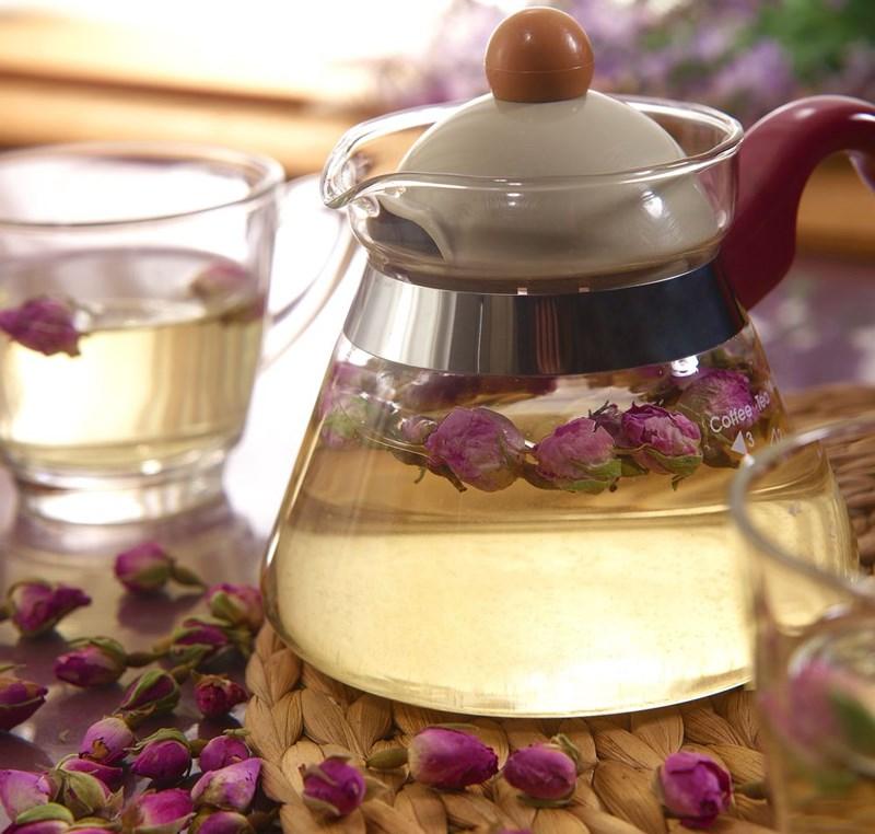 cách pha trà hoa hồng tươi