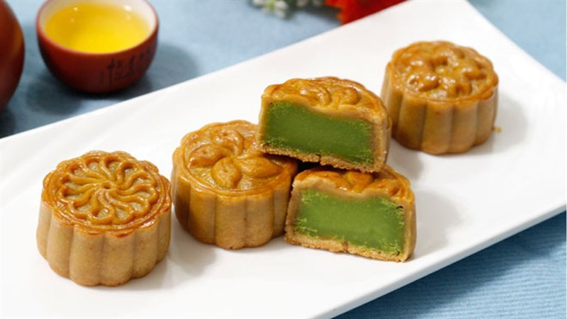 Cách sên nhân đậu xanh lá dứa
