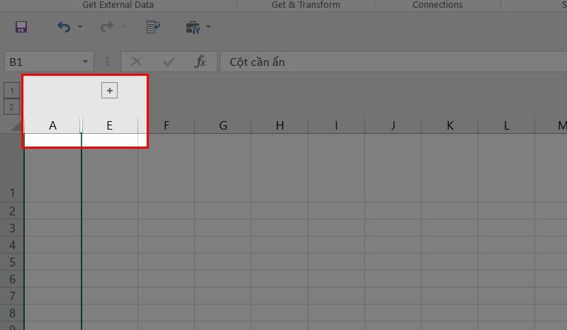 3 cách ẩn cột, dòng, sheet, trong Excel 2010, 2013, 2016, 2020