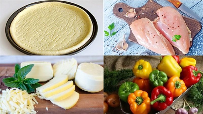 Nguyên liệu món ăn pizza gà phô mai