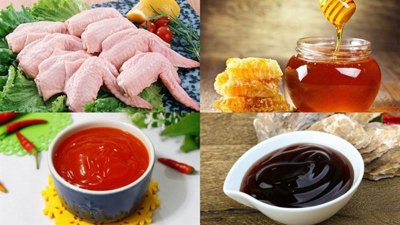 Nguyên liệu món ăn 2 cách làm cánh gà nướng mật ong