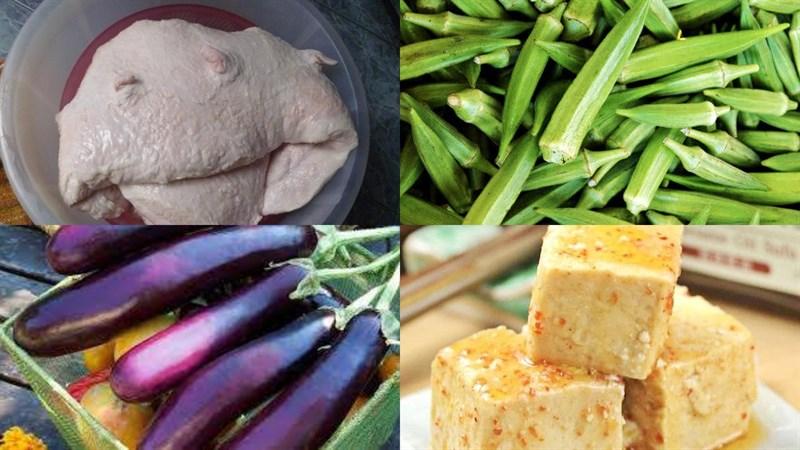 Nguyên liệu món ăn 2 cách làm vú heo và vú dê nướng chao