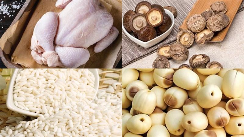 Nguyên liệu món ăn 3 cách nấu lẩu cháo gà