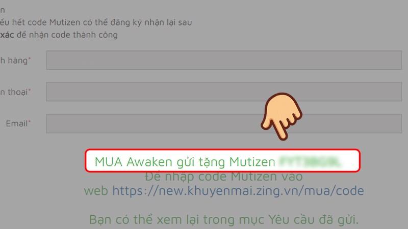 Hướng dẫn đăng ký thông tin nhận code MU Awaken 6