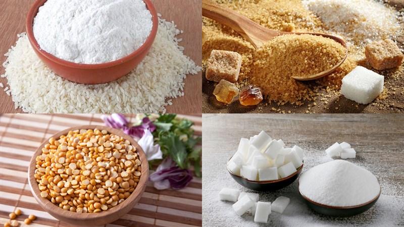 Nguyên liệu món ăn bánh trung thu dẻo nhân đậu xanh
