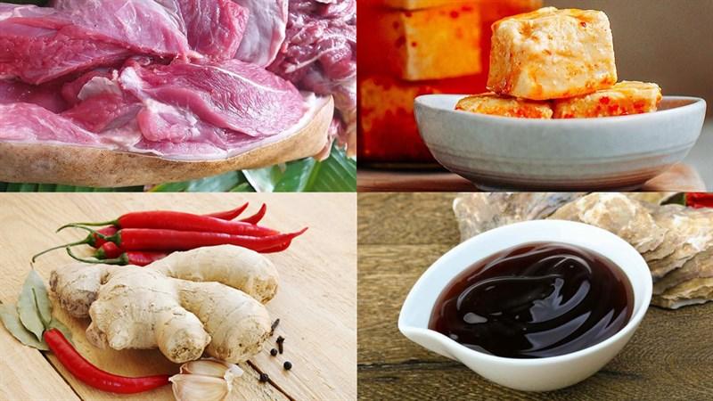 Nguyên liệu món ăn dê nướng tảng