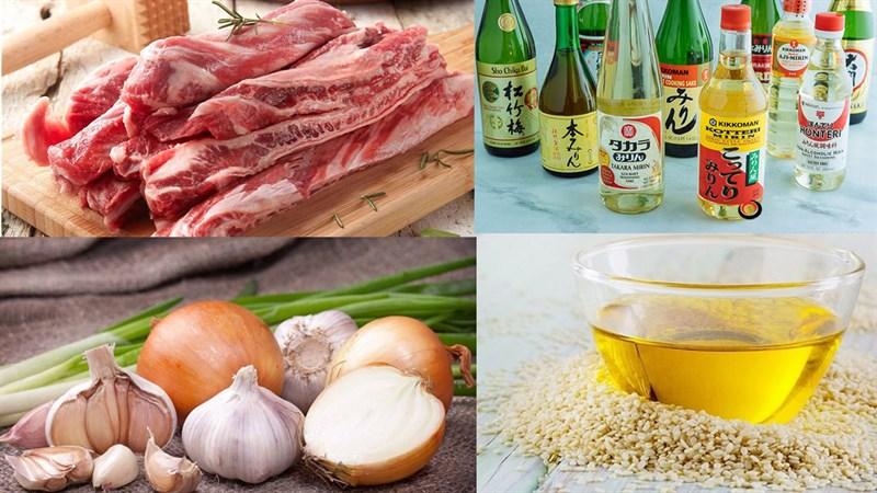 Nguyên liệu món ăn sườn bò băm nướng (tteokgalbi)