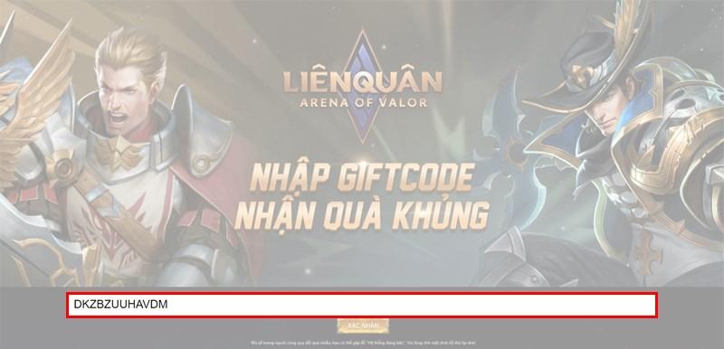 Nhập giftcode