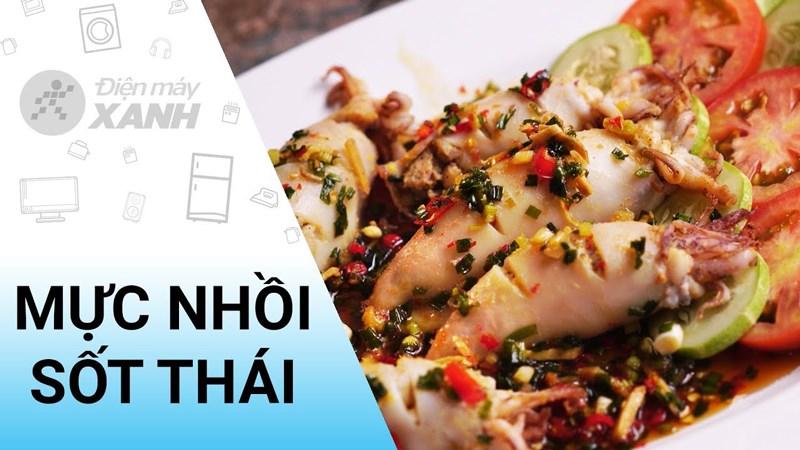 mực sốt Thái chua cay