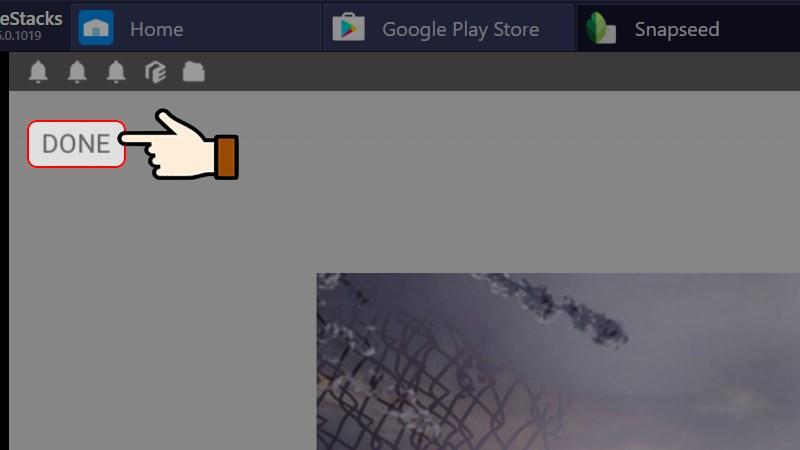 Nhấn chọn Done để lưu hình ảnh