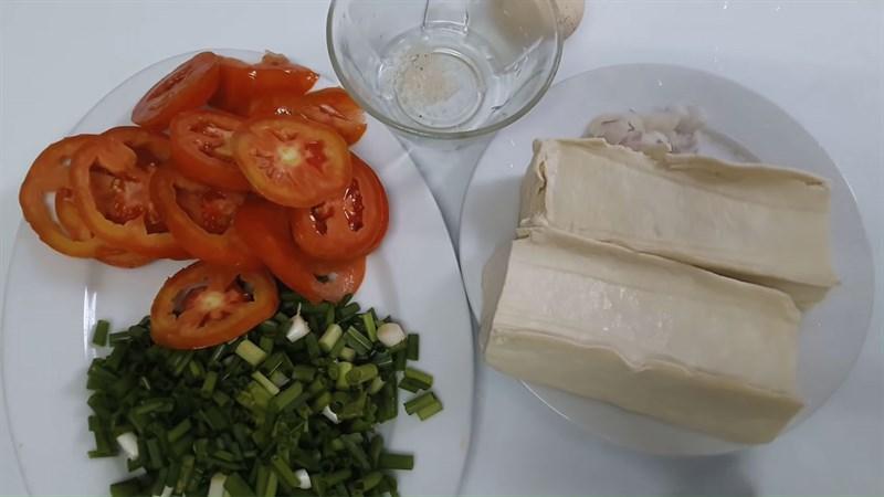 Nguyên liệu món ăn 2 món canh cà chua trứng