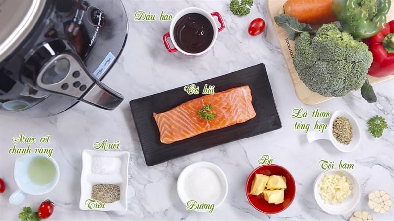 Nguyên liệu món ăn 3 cách làm cá hồi nướng