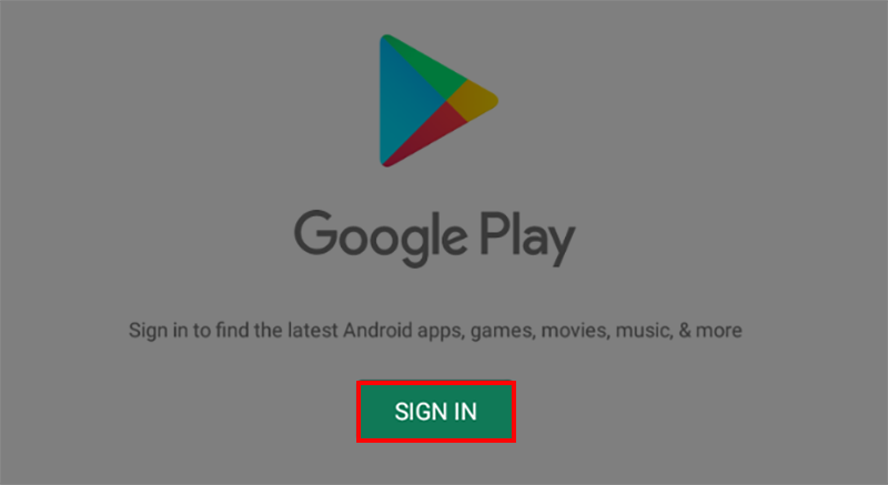 Sign in Google Play