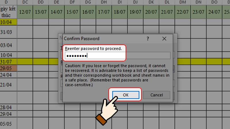 cách đặt mật khẩu khóa file excel không cho chỉnh sửa
