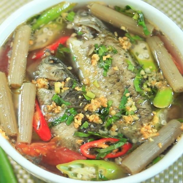 2 cách nấu canh chua cá rô đồng và cá trê