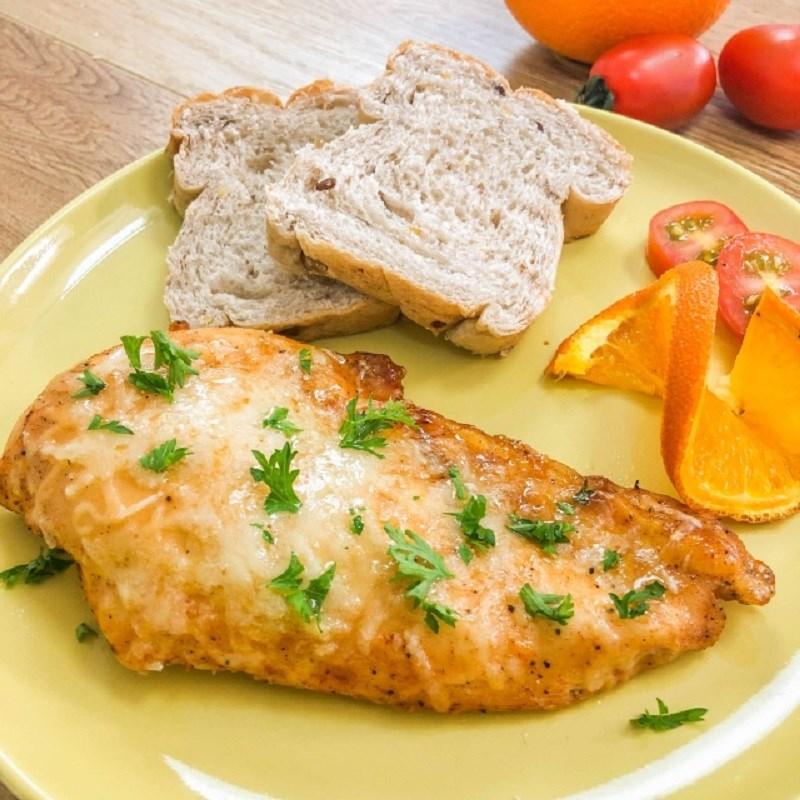 Bước 5 Thành phẩm Ức gà nướng phô mai sốt cam cay