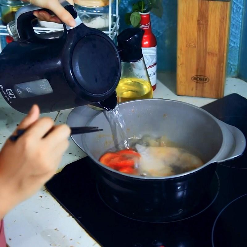 Bước 5 Nấu canh Canh chua cá bớp nấu dứa