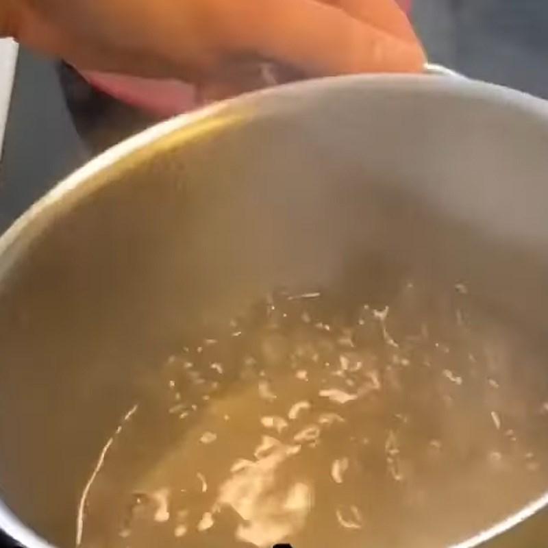 Bước 1 Nấu nước đường Bánh in nhân dừa