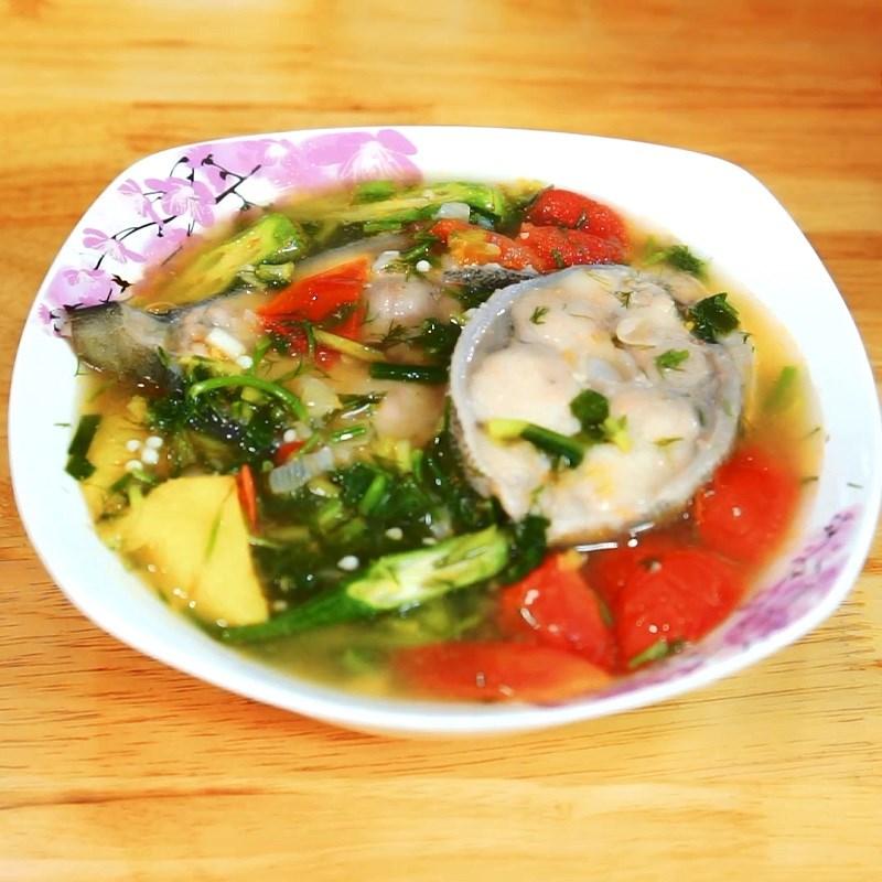 Bước 6 Thành phẩm Canh chua cá bớp nấu dứa