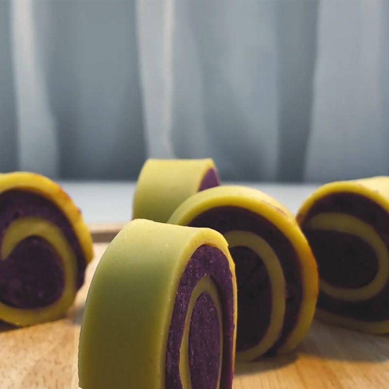 Bước 6 Thành phẩm Bánh khoai lang tím cuộn