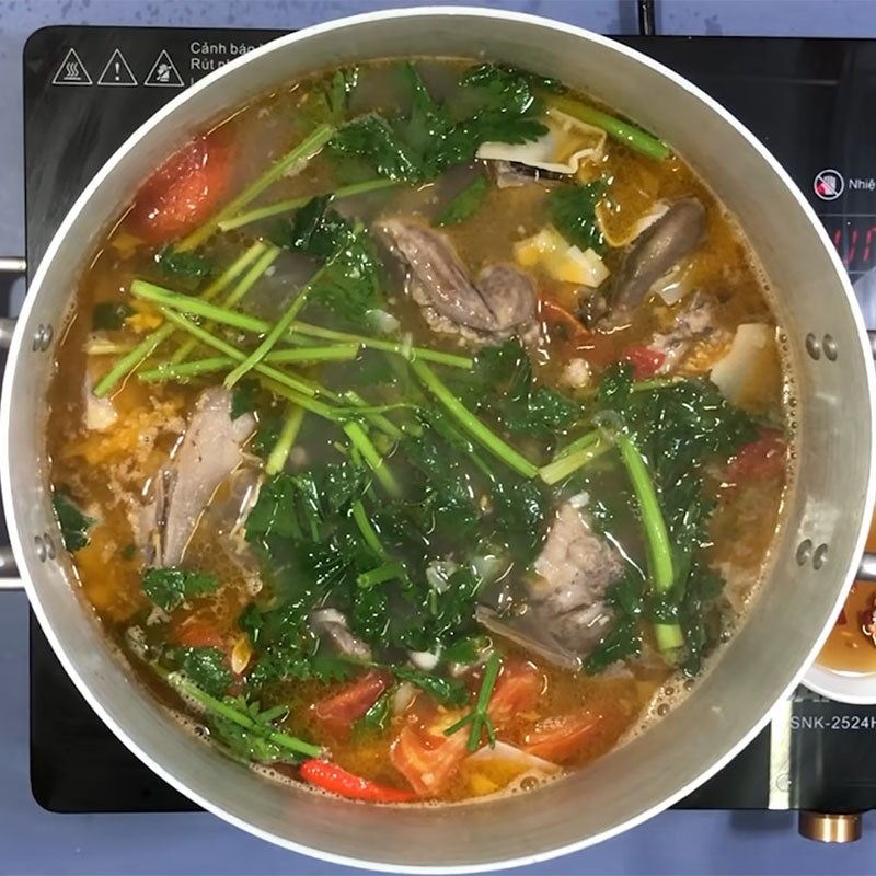 Bước 7 Thành phẩm Canh chua cá bớp nấu măng
