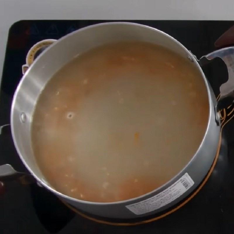 Bước 3 Nấu canh Canh rau dền tôm khô
