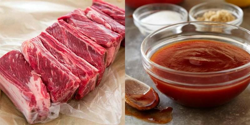 Nguyên liệu món ăn sườn bò nướng