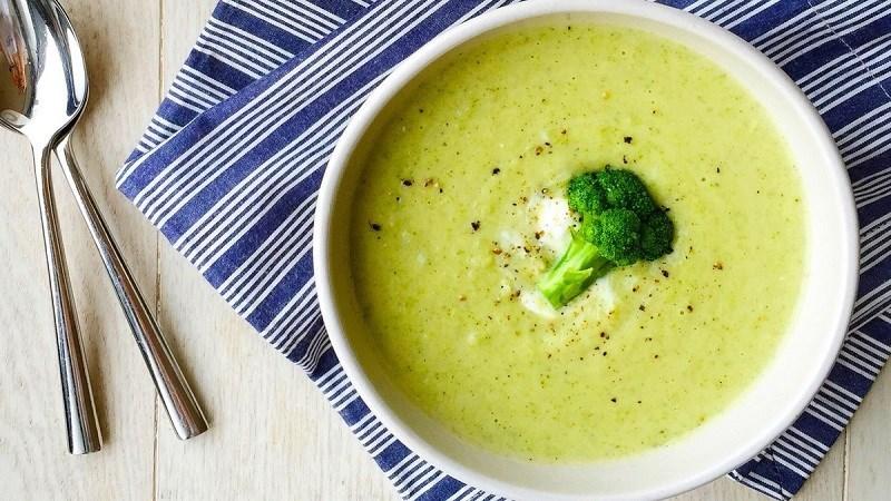 Súp bông cải xanh kem sữa
