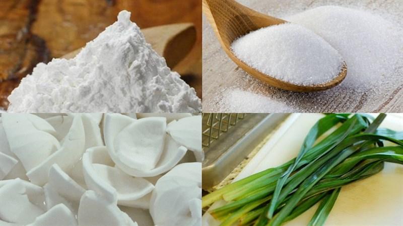 Nguyên liệu món ăn chè bột lọc nhân dừa