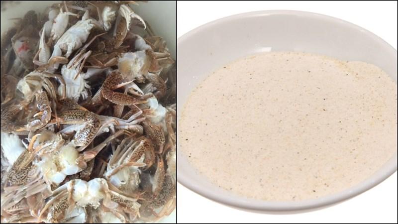 Nguyên liệu món ăn ghẹ sữa rang mẹ và ghẹ sữa chiên giòn