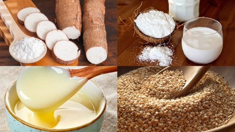 Nguyên liệu món ăn khoai mì hấp nước cốt dừa