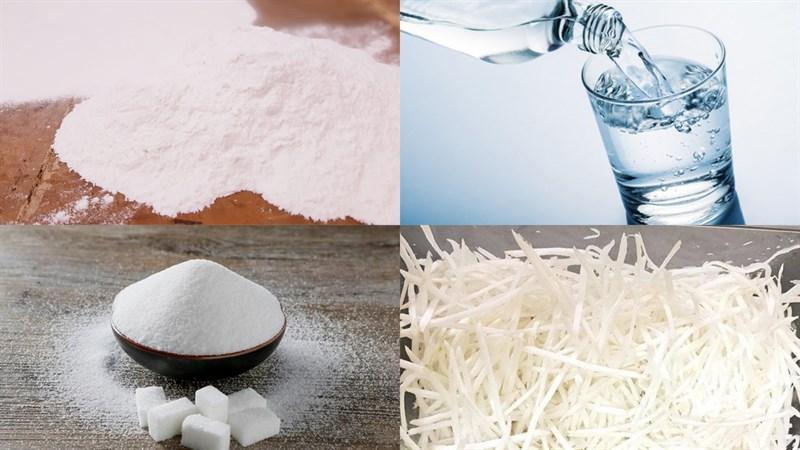 Nguyên liệu món ăn 2 cách làm bánh in nhân dừa