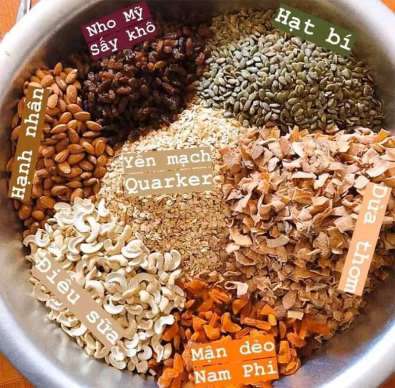 Granola chứa nhiều chất dinh dưỡng