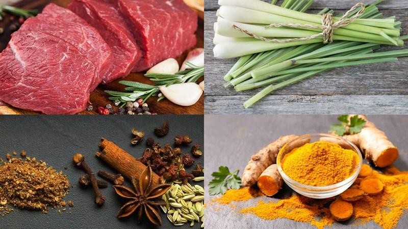 Nguyên liệu món ăn làm bò khô miếng bằng nồi chiên không dầu