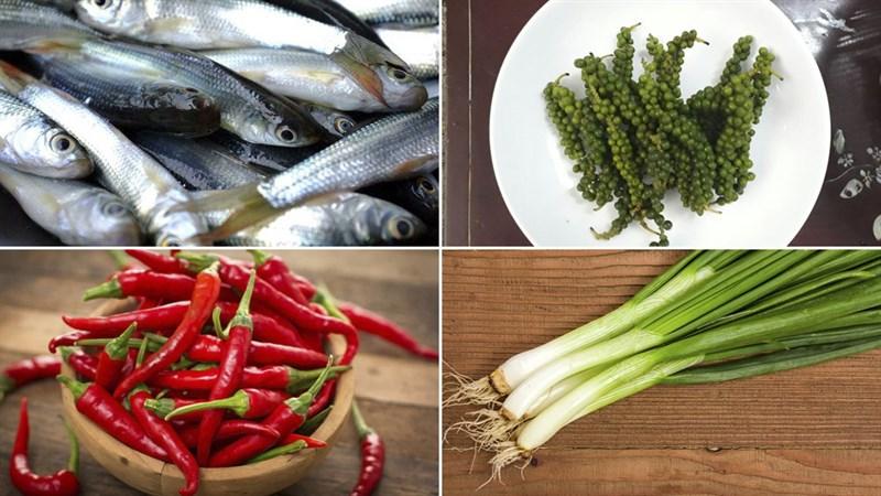Nguyên liệu món ăn cá linh kho tiêu và kho khế