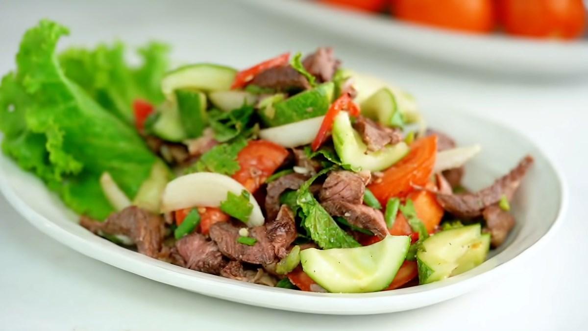 2 cách làm salad thịt bò