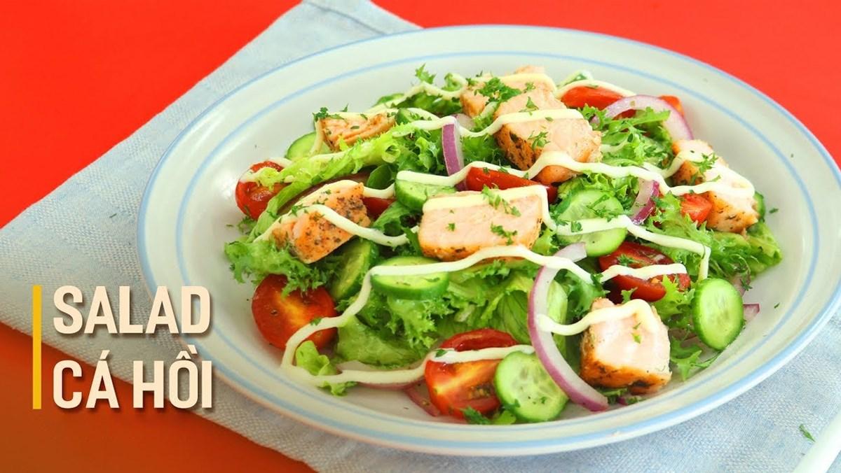 Salad  cá hồi dầu giấm