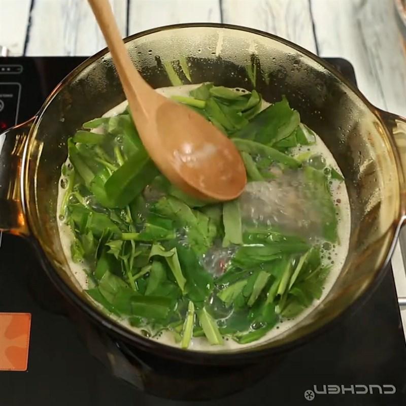 Bước 3 Nấu canh Canh hến nấu rau muống