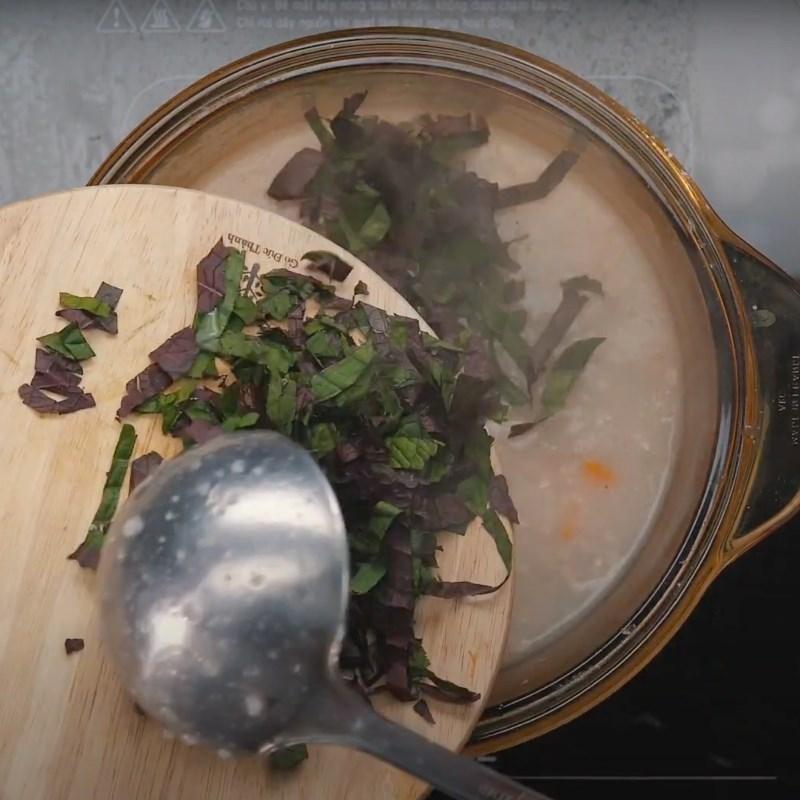 Bước 4 Nấu cháo Cháo thịt bằm tía tô